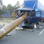 Accident lié à un mauvais calage et arrimage